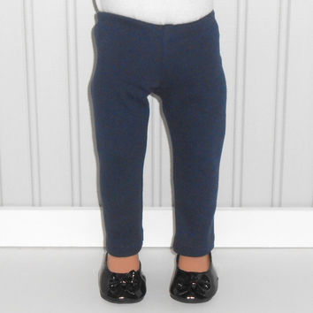 Navy Leggings for18 inch Girl Doll Navy Knit Pants American Doll Clothes