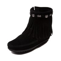 Womens Minnetonka Hello Kitty® Fringe Bootie