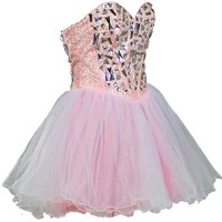 Faironly Crystals Mini Short Cocktail Prom Dresses
