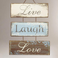 Live Love Laugh Metal Sign | World Market