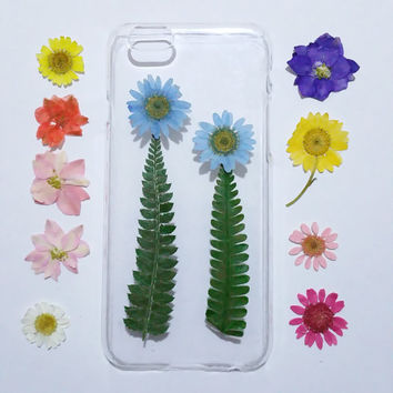 floral iPhone 5s Case, iPhone 5 Case Clear, Pressed Flower iPhone 5s Case, samsung galaxy s6 case, s5 case, pressed flower note 3 case,