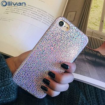Ollivan Luxury Bling fish Scale Laser case for iphone 7 silicon case Soft TPU back cover for iphone 6 6s 7 plus fundas 6 s coque