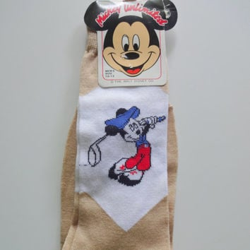 Vintage Brand New Mickey Mouse Golf Socks 1980s