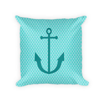 Anchor Children's Woven Cotton Throw Pillow