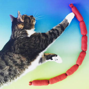 GIANT Catnip Sausage Rope Cat Toy