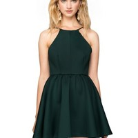 After Dark High Neck Apron Dress