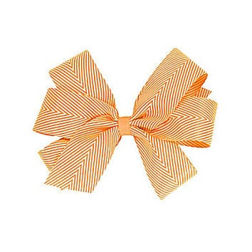 Copper Key Large Twill Stripes Triangle Bow