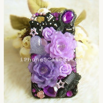 iPhone 4 Case, iPhone 4s Case, iPhone 5 Case, Cute iphone 4 case, floral iphone 4 case, girly iPhone 4 case, iphone 5 bling case, iphone 5s