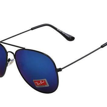 Ray Ban Aviator Gradient RB3025 Dark Blue Black Sunglasses