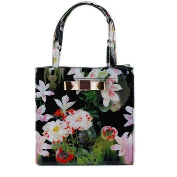 CREYONV Ted Baker Flower Women Shopping Leather Handbag Tote Satchel bag