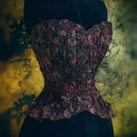 """Presenting """"Bloom"""" - a Falling Blossoms curated collection corset"""