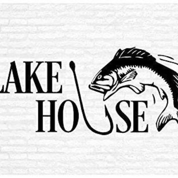 Lake House Inspirational Words Quote Home Decor Vinyl Wall Art Stickers Decals Graphics