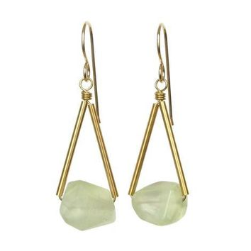 Riki Triangle Gemstone Earrings