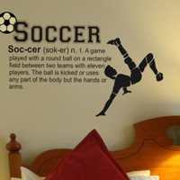 Soccer Definition Vinyl Wall Decal