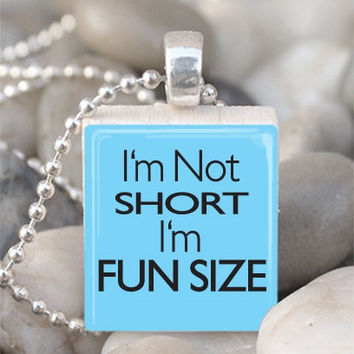 Scrabble Tile Pendant Fun Size Pendant Fun Size by IncrediblyHip