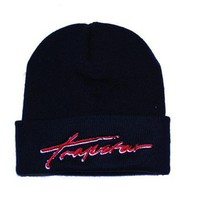 Trapstar Beanie (black) ( Red signature text) | Trapstar Online Store