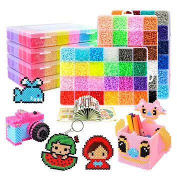 Perler beads kit 5mm/2.6mm kit hama beads 5mm 2.6mm DIY beads 3D Puzzles complete set  with all accessories educational toys