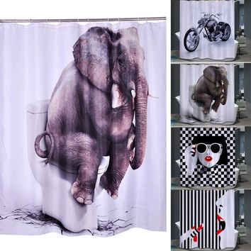 3D Anime Cool Print Shower Curtains