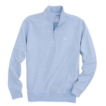 Skipjack Pique 1/4 Zip Pullover in Light Blue by Southern Tide - FINAL SALE