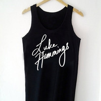 Custom Tank top 5 second of summer, 5sos, Luke Hemmings Funny Shirt  for Tank top Mens and Tank top Girl Size S-XXL by JumatanBro
