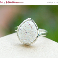 On Sale Druzy Ring,Drusy Ring,Drusy Quartz,Agate Ring,Gemstone Ring,Geode Ring,statement ring,925 Sterling Silver!!