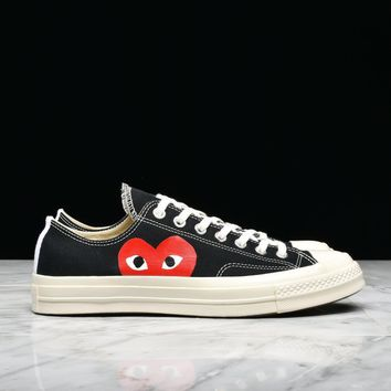 best sale cdg play x converse chuck taylor all star 70 ox black
