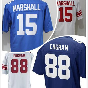 2017 New Mens Draft Pick No.23 #88 Evan Engram Jersey Blue White Cheap #15 Brandon Marshall Jerseys Stitched Sports Shirt