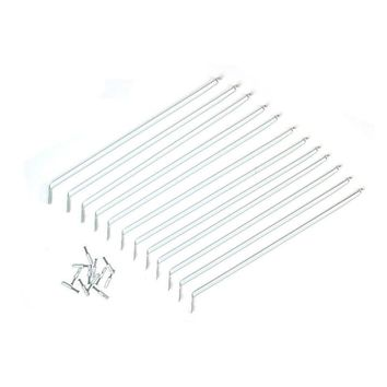 "ClosetMaid® 2177500 Express Shelf Support Bracket w/ Anchors, White, 12"", 12-Pk"