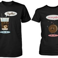 Ice Coffee and Cookie Together Matching Couple Shirts