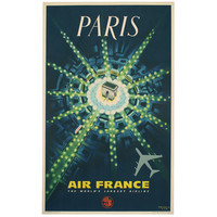 "Original Pierre Baudouin Air France Poster ""Paris"""