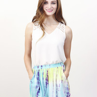 Tie-Dye Pom Shorts » Vertage Clothing