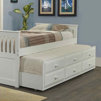 Brinley Captains Bed with Trundle and Storage
