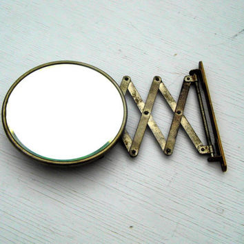 Expandable Shaving Mirror, Vintage Shaving Mirror, Vintage Bathroom Decor, Vintage Industrial Decor, Beveled Mirror
