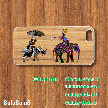 Elephant - iPhone  4 case, iphone 5 Case,iPod  touch 4 case , iPod touch 5 case , Samsung Galaxy S3 , S2 case