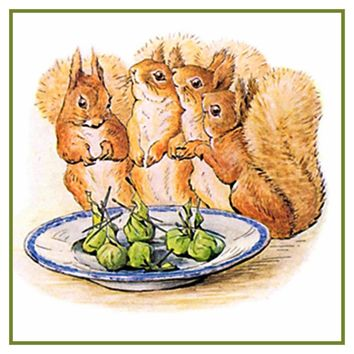 Squirrel Nutkin and Friends inspired by Beatrix Potter Counted Cross Stitch or Counted Needlepoint Pattern