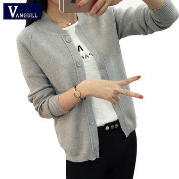 Spring Autumn Candy color Wool Sweater New V neck Can not buckle cardigan Fashion wild Female Small shawl Jacket burderry women