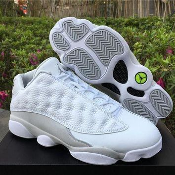 "PEAPVX Air Jordan Retro 13 Low ""Pure MoneyTop Quality AJ13 Men Basketball Shoes With Original Box STYLE CODE:310810-100"