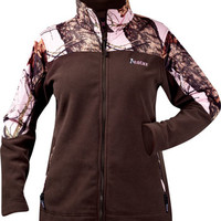 Saddles Tack Horse Supplies - ChickSaddlery.com Ladies Pink Mossy Oak Brown Fleece Winter Jacket <>
