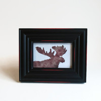 Moose Miniature Art Print 4 X 6 inches