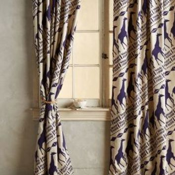 Giraffe Curtains by Anthropologie