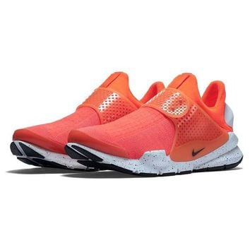 Neon Orange Sock Dart Sneakers by Nike
