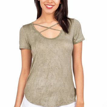 Crisscross Soft Wash Tee