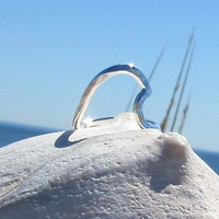Wave of Life Ring Sterling Silver Hammered by Wave of Life