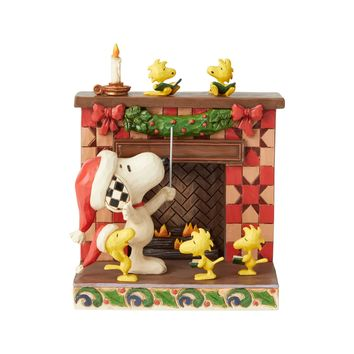 Jim Shore Peanuts Snoopy At Fireplace-6002772