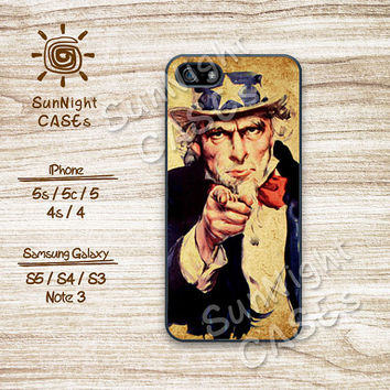 I Want You, Vintage ,Uncle Sam, iPhone 5 case, iPhone 5C Case, iPhone 5S case, Phone case, iPhone 4 Case, iPhone 4S Case, Phone Skin