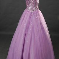 A-line Sweetheart Sleeveless Floor-length Satin Organza Wedding Dress With Paillette Free Shipping