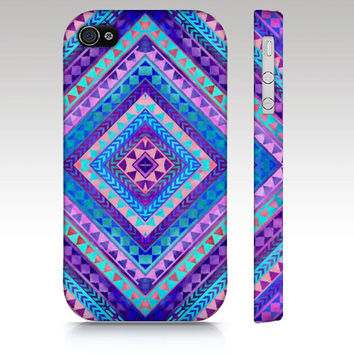 Tribal iPhone case iphone 4 iphone 5 Aztec colorful by RoveStudio
