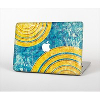 "The Scratched Blue and Gold Surface Skin Set for the Apple MacBook Pro 13"" with Retina Display"