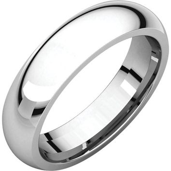 14k White Gold 1.5mm Comfort Fit Wedding Band Ring - Bridal Jewelry