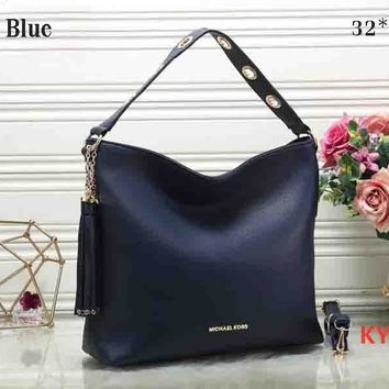 MK 2018 Latest Women Fashion Leather Trendy Tote F-KR-PJ Royal Blue